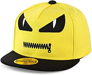 Yellow Cotton Baseball Hat For Kids