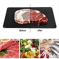 解凍プレート解凍トレイ/解凍冷凍食品肉魚果物クイック解凍プレートまな板解凍キッチンガジェットツール35.5 x 20.5 x 0.2CM