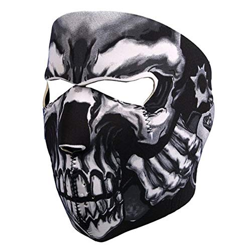Bocotoer Lemon Neopren Maske Vollgesichts Assassin's Skull Gesichtsmaske Face Mask Ghost Style Airsoft Paintball