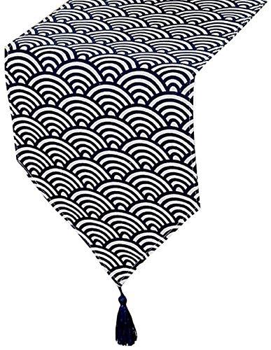 BECCYYLY Corredor de Mesa Camino de Mesa Minimalista con borlas, for el Hotel Casa Cocina Comedor Corredor de la Tabla Mat, 7 Tamaño Opcional Manteles (Color : Style1, Size : 30×160cm)