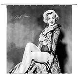 SRJ2018 Marilyn Monroe Duschvorhang, sexy Frauen-Badezimmer-Dekoration, wasserdicht, Polyester, 183 x 183 cm