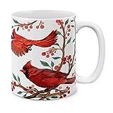 coffee cup bird - MUGBREW Red Cardinal Birds Ceramic Coffee Mug Tea Cup, 11 OZ