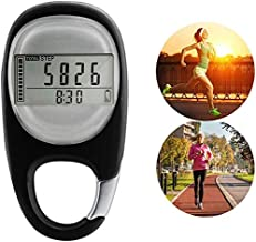 Maizad 3D Digital Pedometer with Clip, Walking Step Counter for Men Women Kids, Track Steps and Miles/Km Calories Burned &...