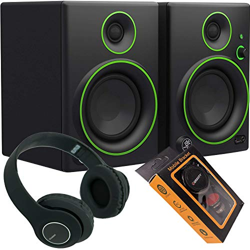 Find Cheap Mackie CR4BT 4 Multimedia Monitors (Pair) + Bluetooth Headphone and Extra Bundle 914+M