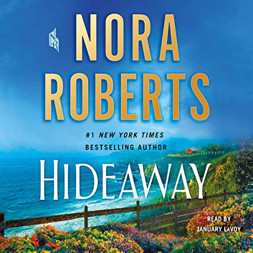 "alt=""A family ranch in Big Sur country and a legacy of Hollywood royalty set the stage for Nora Roberts' emotional new suspense novel, Hideaway.  Caitlyn Sullivan had come from a long line of Hollywood royalty, stretching back to her Irish immigrant great-grandfather. At nine, she was already a star - yet still an innocent child who loved to play hide-and-seek with her cousins at the family home in Big Sur. It was during one of those games that she disappeared.  Some may have considered her a pampered princess, but Cate was in fact a smart, scrappy fighter, and she managed to escape her abductors. Dillon Cooper was shocked to find the bloodied, exhausted girl huddled in his house - but when the teenager and his family heard her story, they provided refuge, reuniting her with her loved ones.  Cate's ordeal, though, was far from over. First came the discovery of a shocking betrayal that would send someone she'd trusted to prison. Then there were years spent away in Western Ireland, peaceful and protected but with restlessness growing in her soul.  Finally, she would return to Los Angeles, gathering the courage to act again and get past the trauma that had derailed her life. What she didn't yet know was that two seeds had been planted that long-ago night - one of a great love, and one of a terrible vengeance....  A Macmillan Audio production from St. Martin's Press"""
