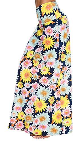Falda Larga Maxi de Impresión de Estilo Bohemio de Las Mujeres Falda Ocasional (XL, 3)