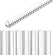 (Pack of 8) Barrina LED T5 Integrated Single Fixture, 4FT, 2200lm, 6500K (Super Bright White), 20W, Utility Shop Light, Ceiling and Under Cabinet Light, Corded Electric with Built-in ON/Off Switch