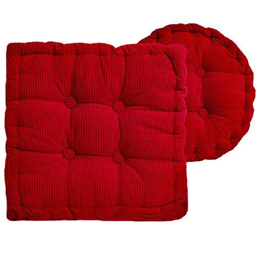 LIANHUI 2 stoelkussen, verdikte vierseizoens universeel kussen, pijn verlichten, gebruikt voor thuis, kantoor, rolstoel, auto, meerdere kleuren, pluche kussen