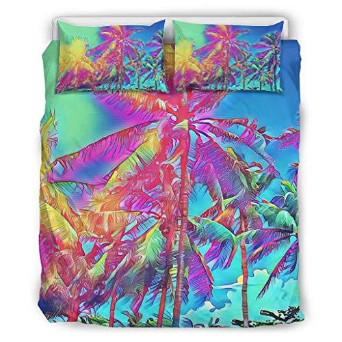shenminqi Tree Premium - Juego de cama de 3 piezas para dormitorio de niñas y niños (264 x 229 cm), color blanco