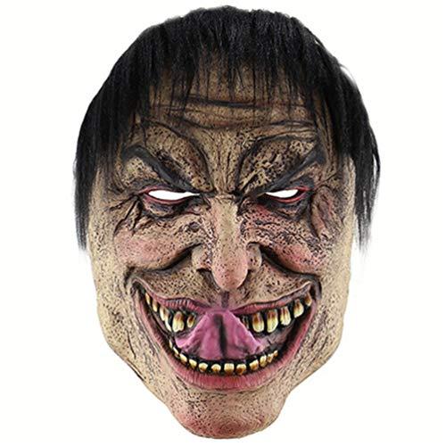 LBMJ Máscara Halloween Divertido Hombre Miserable Máscara Comercio Exterior Amazon Horror Máscara de Payaso de látex Cubierta de la Cabeza