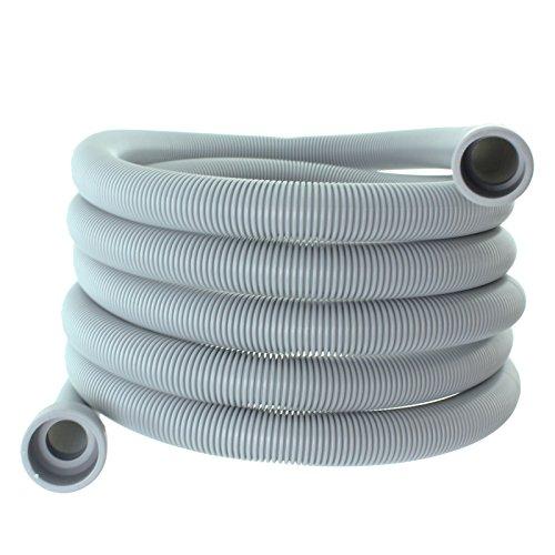 Spares2go afvoerslang, extra lang, waterpijp voor hotspot vaatwasser (4 m, aansluitingen: 29 en 22 mm)
