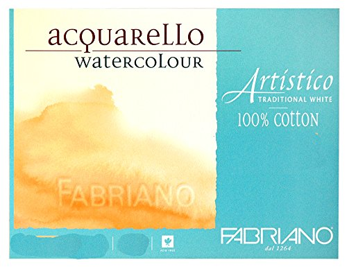Fabriano Artistico Watercolor Paper 300 lb. Cold Press 10-Pack 22x30' - Traditional White