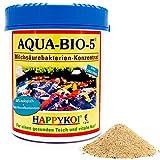 AQUA BIO 5 Milchsäurebakterien Pulver, probiotische Filterbakterien für Koiteich, Teich und Gartenteich, unterstützen die Nitrifizierung, bauen Algen und Schlamm ab. Der Rundum-Schutz...