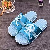 LNLJ Zapatos de Masaje de Pies, Sandalias y Pantuflas para Hombres y Mujeres Antideslizante Masaje para Baño Asiento Blue _ 44 Calzado de Salud