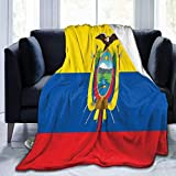 not applicable Bandera de Ecuador Manta Sherpa Cómoda Manta de vellón de Franela de Primera Calidad Mantas térmicas cómodas Manta de Regazo Duradera Manta de sofá Caliente para Toda Temporada