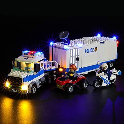 BRIKSMAX Kit de Iluminación Led para Lego City Centro de Control Móvil,Compatible con Ladrillos de Construcción Lego Modelo 60139, Juego de Legos no Incluido
