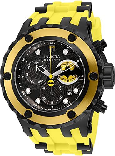 INVICTA Reloj de hombre 32787 DC edición limitada Batman Swiss Chronograph 52MM de acero inoxidable