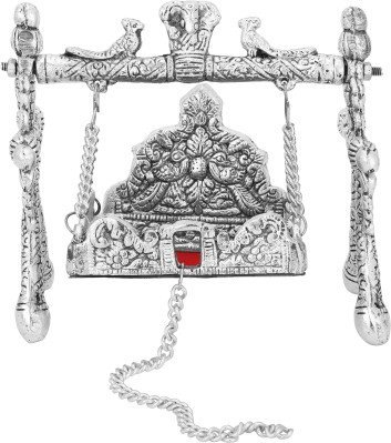 The Hue Cottage Altalena Artificiale Decorativa in Metallo jhula per Dio Statua Artigianale Appeso Religiosa Articoli da Regalo