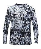 Performance Fishing Shirt UPF50 Sun Protection Long Sleeve Shirt Moisture Wicking Loose Fit,Black, Mediun