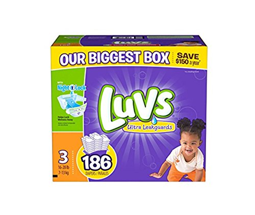Product Image of the luvs diapers size 3, 186 count