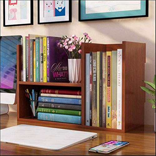 YLCJ Bücherregale Schrankregale Regale Bücherregal MDF DREI Fächer Lagerung Ordentlich Desktop Organizer Display Rack Bücher CDs Multifunktionale (Farbe: T4, Größe: 48 * 17 * 31 cm)
