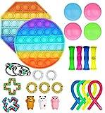 YGG Fidget Toy, Set De Juguetes Sensoriales Fidget, Push Pop Bubble Sensory Fidget Toys, Alivio Del Estrés y Juguetes Sensoriales Anti-ansiedad Para Niños y Adultos (25H)