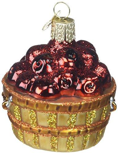 Old World Christmas Fruit Selection Glass Blown Ornaments for Christmas Tree Apple Basket