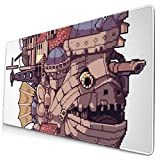 Ye Hua Extra Large Mouse Pad -Howl's Moving Castle Pixel Ghibli Desk Mousepad - 15.8x29.5in (3mm Thick)- XL Protective Keyboard Desk Mouse Mat for Computer/Laptop