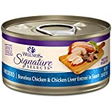 Wellness Natural Pet Food CORE Signature Selects Grain Free Canned Cat Food, Shredded Chicken & Chicken Liver in Sauce, 2.8 Ounces (Pack of 12)