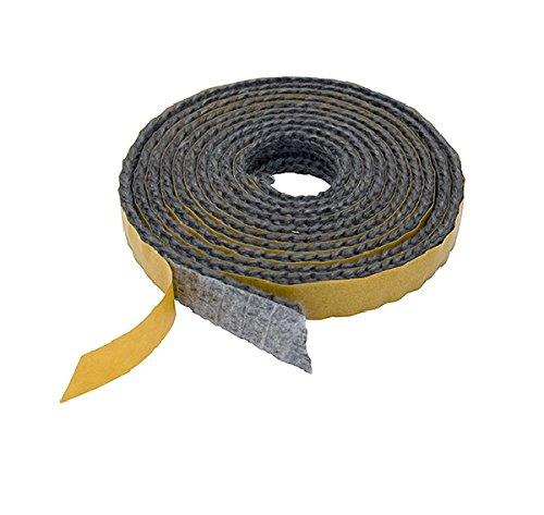 Pyrojoints 601, plat, auto-adhésif, noir, 3mm x 8 mm, noir, au mètre.