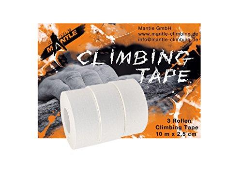 Mantle - Fingertape 2,5 cm x 10m als 3er Pack weiß Sporttape für Klettern Kampfsport