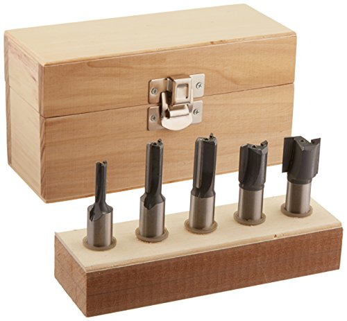 MLCS 8375 Straight Router Bit 5-Piece Boxed Set