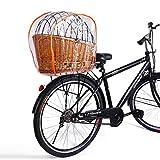Regenhaube Regenschutzhaube für Hundefahrradkörbe in XL und XXL, Regenhaube für Gepäckträger Tierkorb, Regenschutzhaube für Haustier Hund Katze, für fahrradkorb in Größe 56 × 36 und 60 × 37 cm Orange