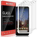 MASCHERI Schutzfolie für Google Pixel 3A XL Panzerglas, [3 Pack] [Ausgestattet mit einem Einbaurahmen] Bildschirmschutzfolie Panzerfolie Bildschirmschutz Panzerglasfolie Glas Folie für Pixel 3A XL