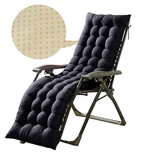 Iwinna Cojines para tumbona, antideslizantes, portátiles, reclinables, muebles de jardín, cojín de repuesto, asiento reclinable para viajes, vacaciones, interior y exterior (solo cojín)