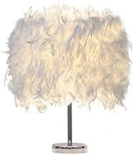 Lámpara de mesa blanca de la pluma, lámpara de mesita de noche moderna, lámpara de mesa de la decoración del comedor del dormitorio