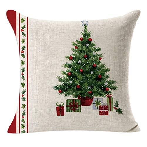 SPNEC Frohe Weihnachten Kissenbezug Nordic Plaid Kissenbezug Weihnachtsdekorationen für Wohnkultur Frohes Neues Jahr Weihnachten (Color : Style 1)