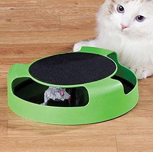 Fengge Jouet de chat catch mouse (Vert + Noir)