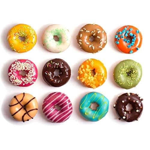 Siliconen donutvormen 6 holle bakplaten maker pannen herbruikbare oranje muffins taart 2 stuks