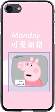 868812fbf Featuring Peppa Pig Compatible with iPhone 7 and 8 Tempered Glass Case Cover  with Soft Bumper