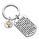 FEELMEM TV Show How I Met You Mother Inspired Jewelry HIMYM Gift Love is The Best Thing We Do Yellow Umbrella Charm Keychain Boyfriend Gift Girlfriend Gift