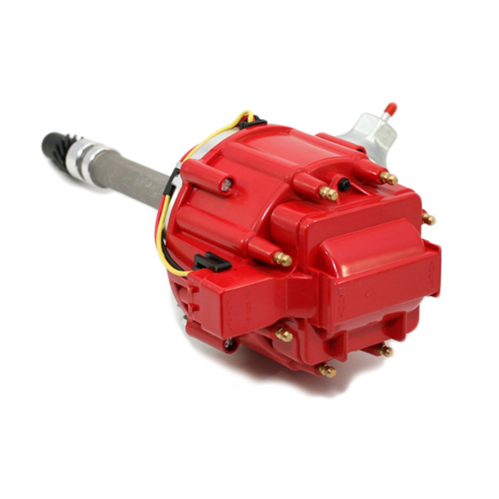 Assault Racing Products 1435001 Chevy V8 HEI Distributor 50K Coil Red Cap with Tach Drive SBC BBC 350 454