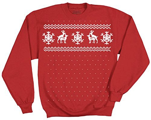 TV Store Ugly Sweater Christmas Reindeer Deer follar rojo de adultos para-camiseta