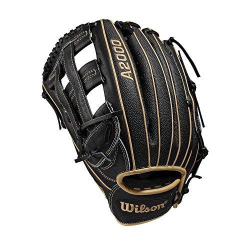 Wilson A2000 12.75-Inch SuperSkin Baseball Glove, Blonde Black, Right (Left Hand Throw)