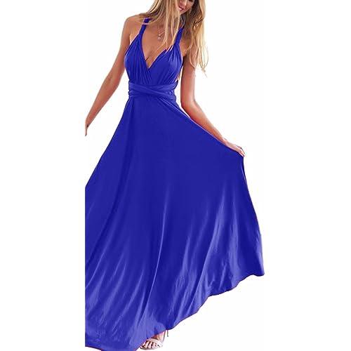 Vestido Largo Azul: Amazon.es