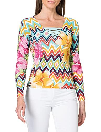 Desigual Womens JERS_SAVA Sweater, White, XS