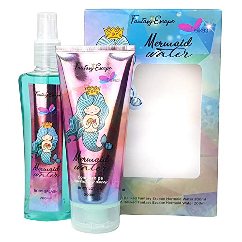 Kit Body Lotion + Body Splash Delikad Mermaid Water 2X200Ml, Delikad Importação Exportação E Comércio Ltda