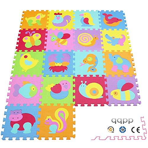 qqpp Alfombra Puzzle para Niños Bebe Infantil - Suelo de Goma EVA...