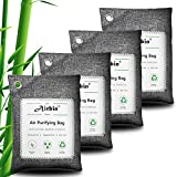 Airbin Bamboo Charcoal Air Purifying Bags 4 Pack,Natural Air Freshener , Odor Absorber for Home , Pets, Shoes , Closet Deodorizer