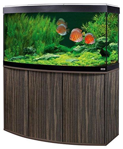 Aquariumkombination Fluval Vicenza 180 Amazonas mit LED Beleuchtung, Heizer, Filter und Unterschrank dunkelbraun